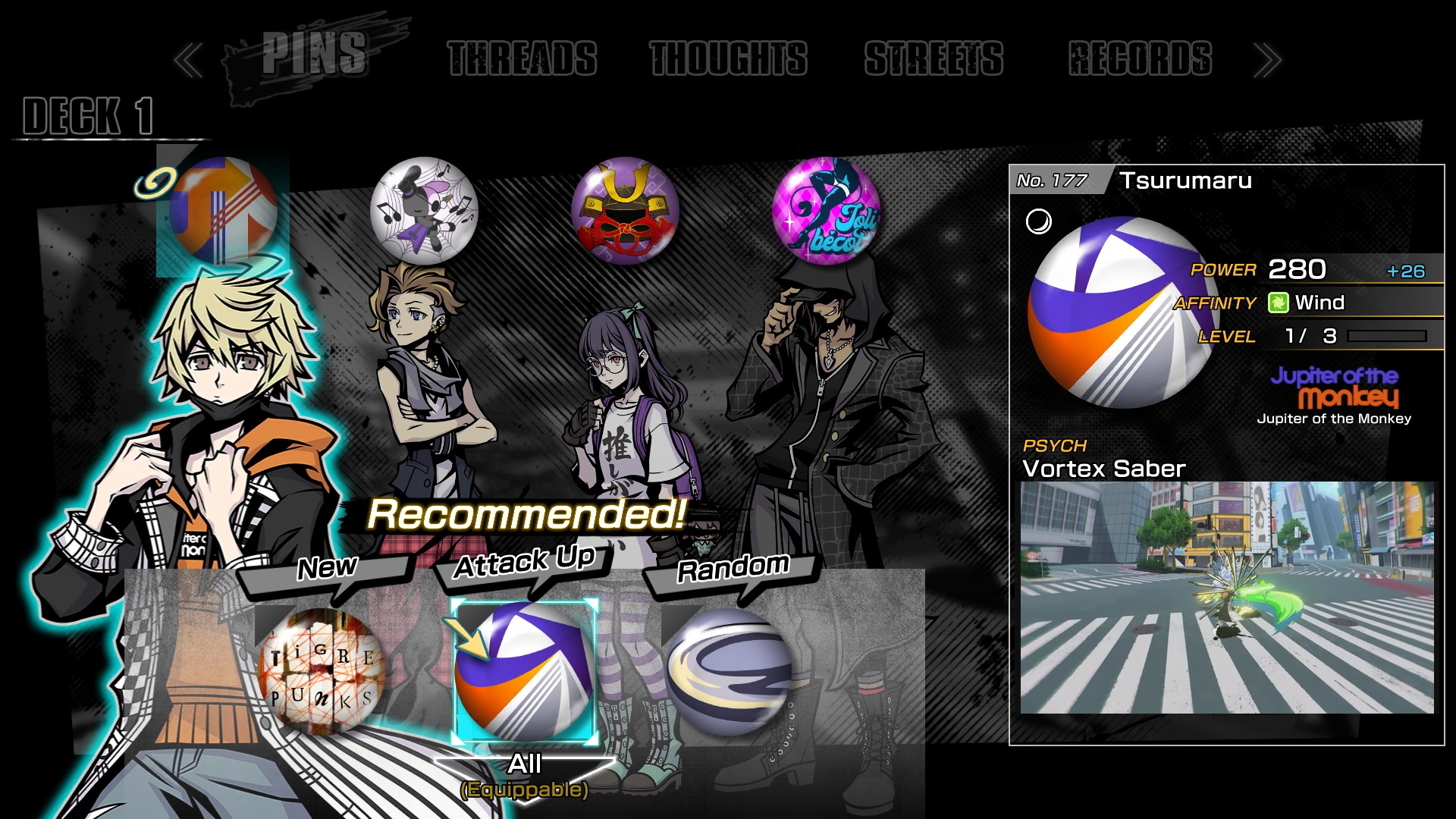 Character stats - NEO: The World Ends With You