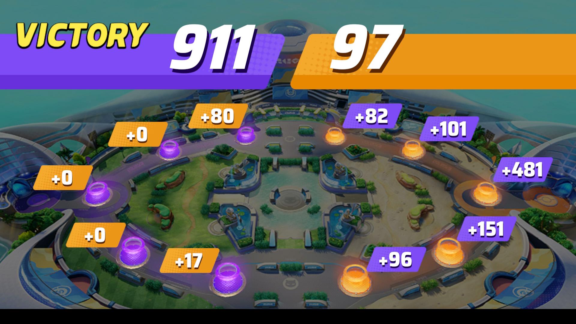pokemon unite check score