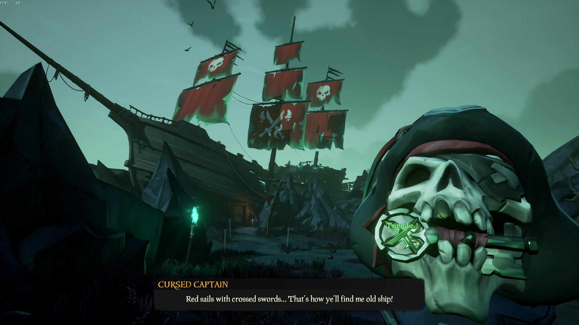 sea of thieves a pirates life ship with red sails