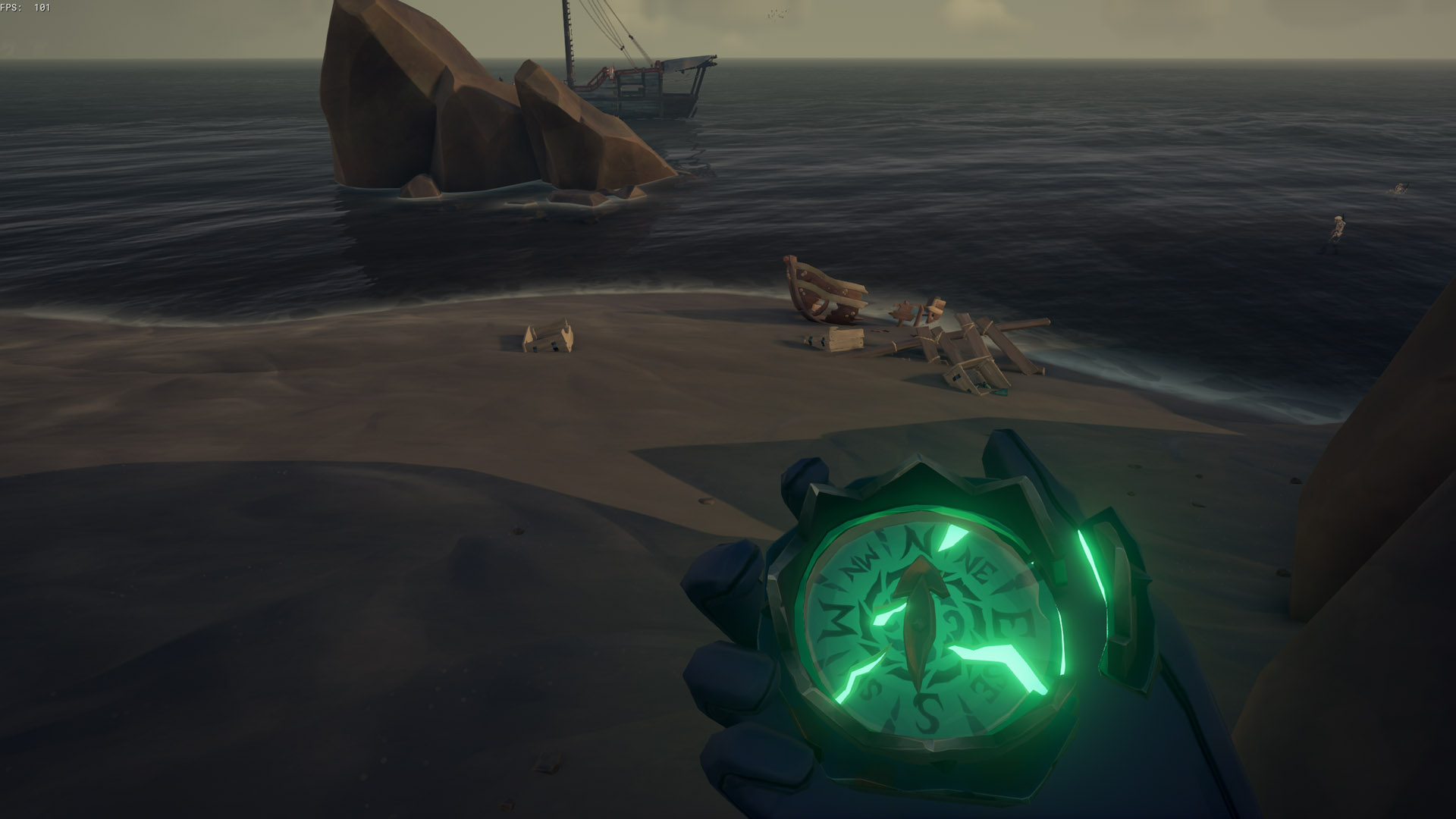 sea of thieves old faithful riddle wrecked rowboat