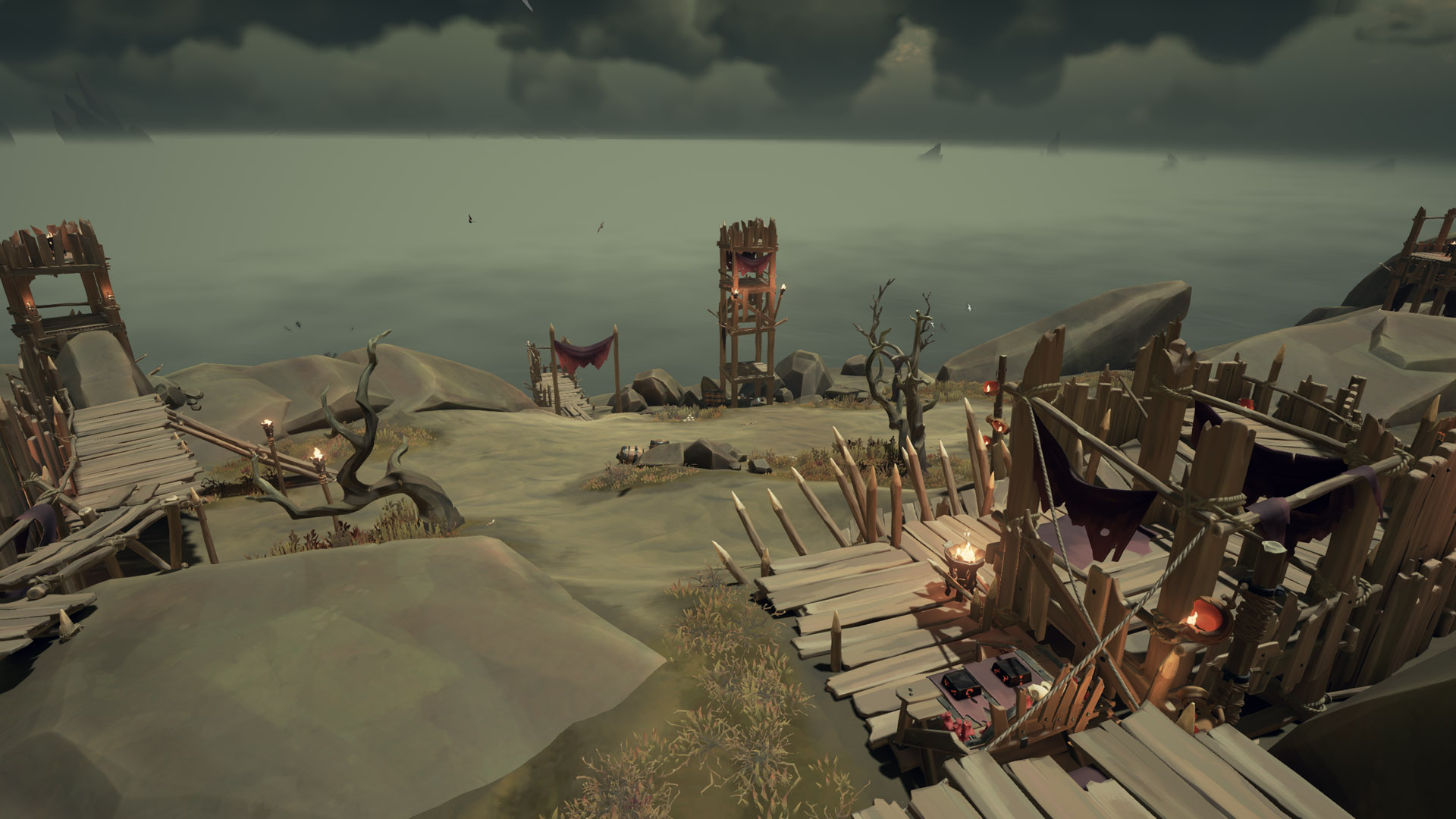 sea of thieves old faithful riddle platform burning fires