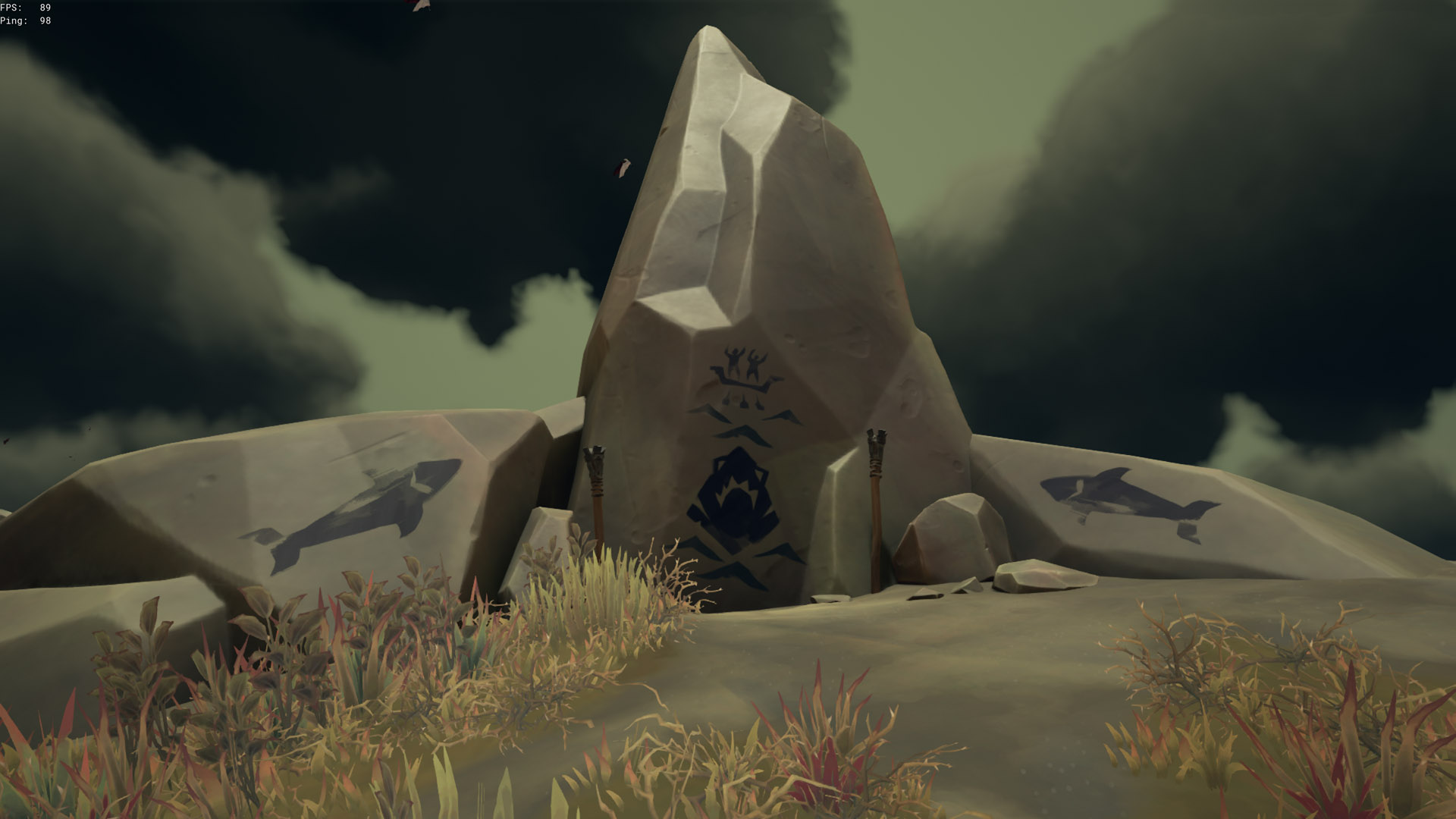 sea of thieves old faithful riddle shark painting