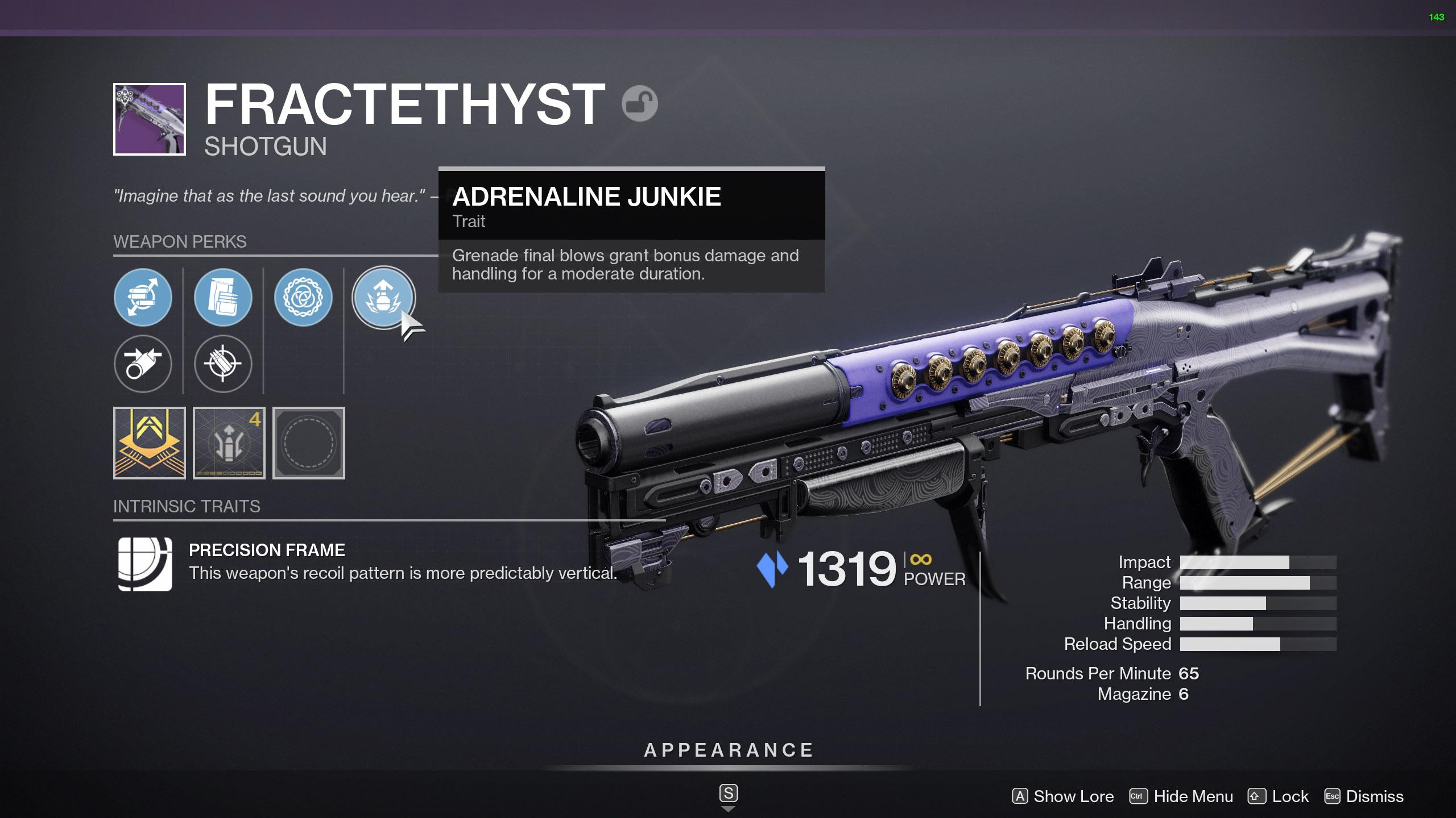 destiny 2 fractethyst god roll