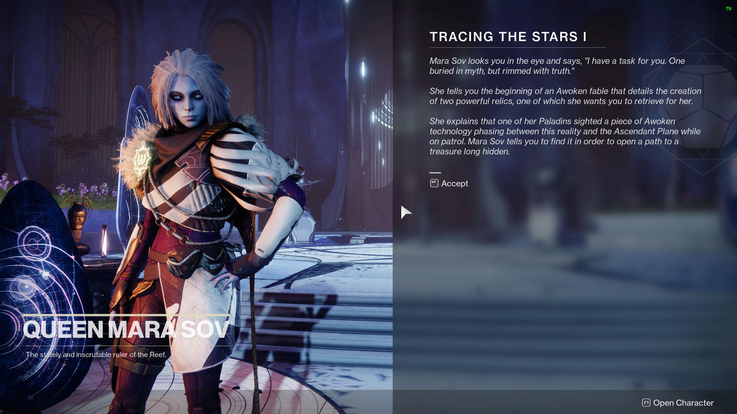 destiny 2 tracing the stars