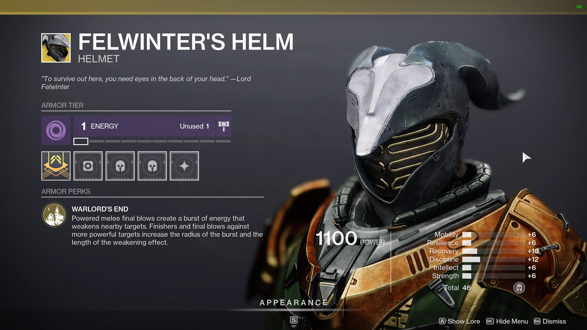 destiny 2 exotic warlock armor felwinters helm