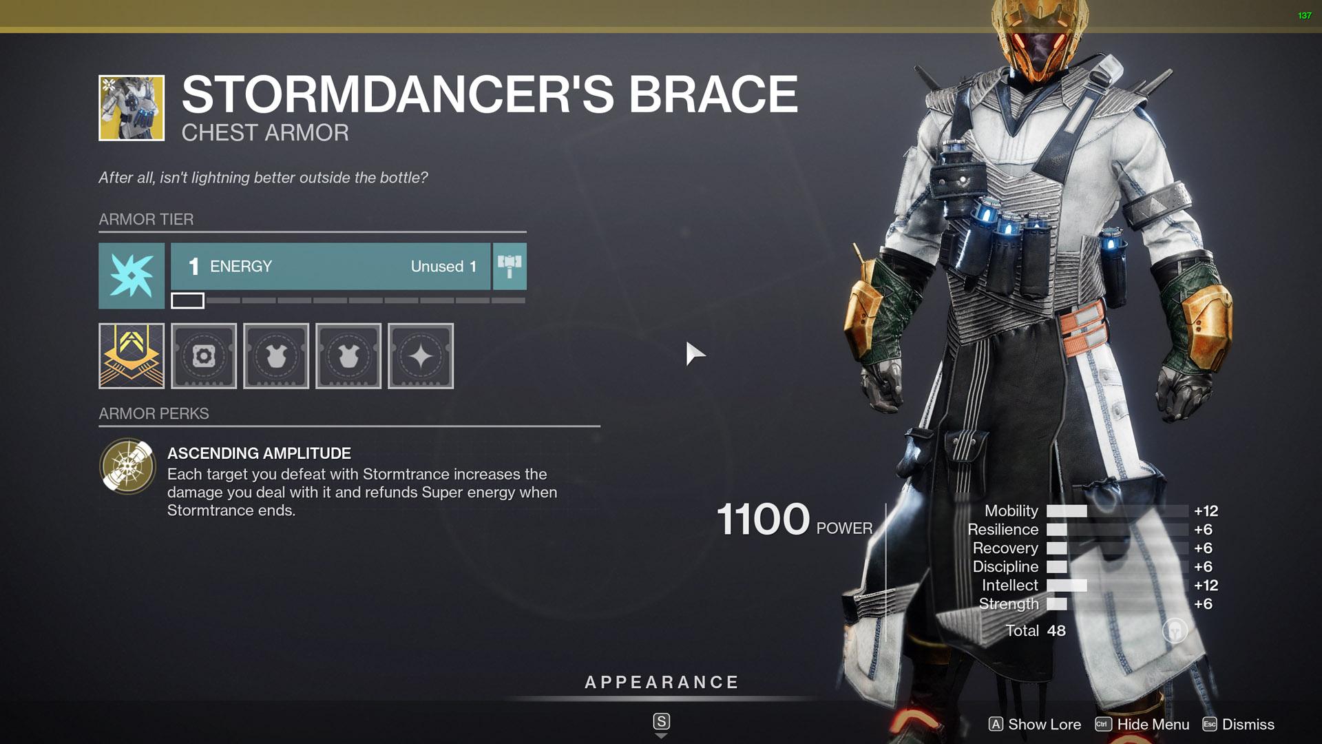 destiny 2 exotic warlock armor stormdancers brace