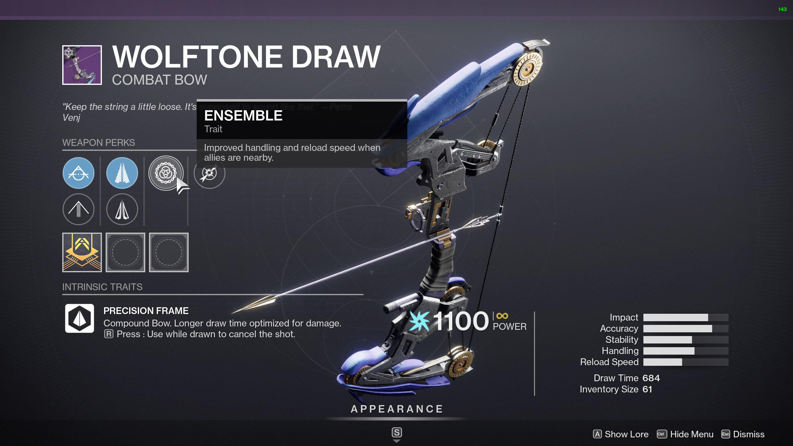 destiny 2 wolftone draw god roll