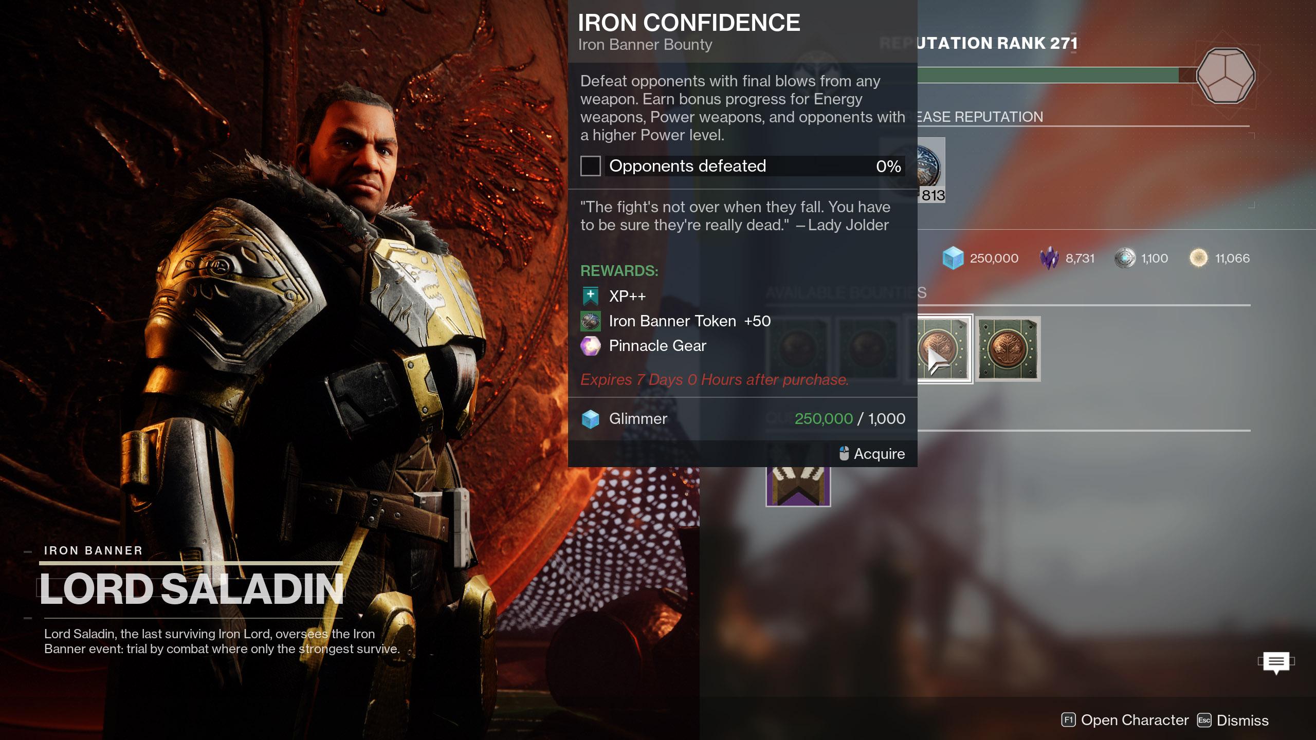 Iron Banner Season 15 Iron Confidence