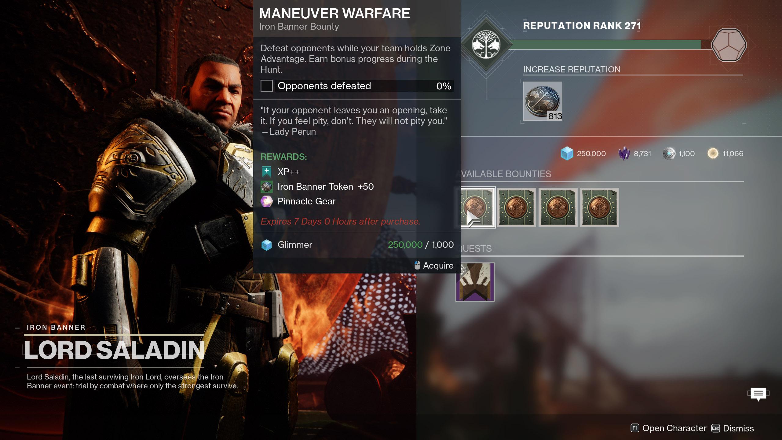 Iron Banner Season 15 Maneuver Warfare