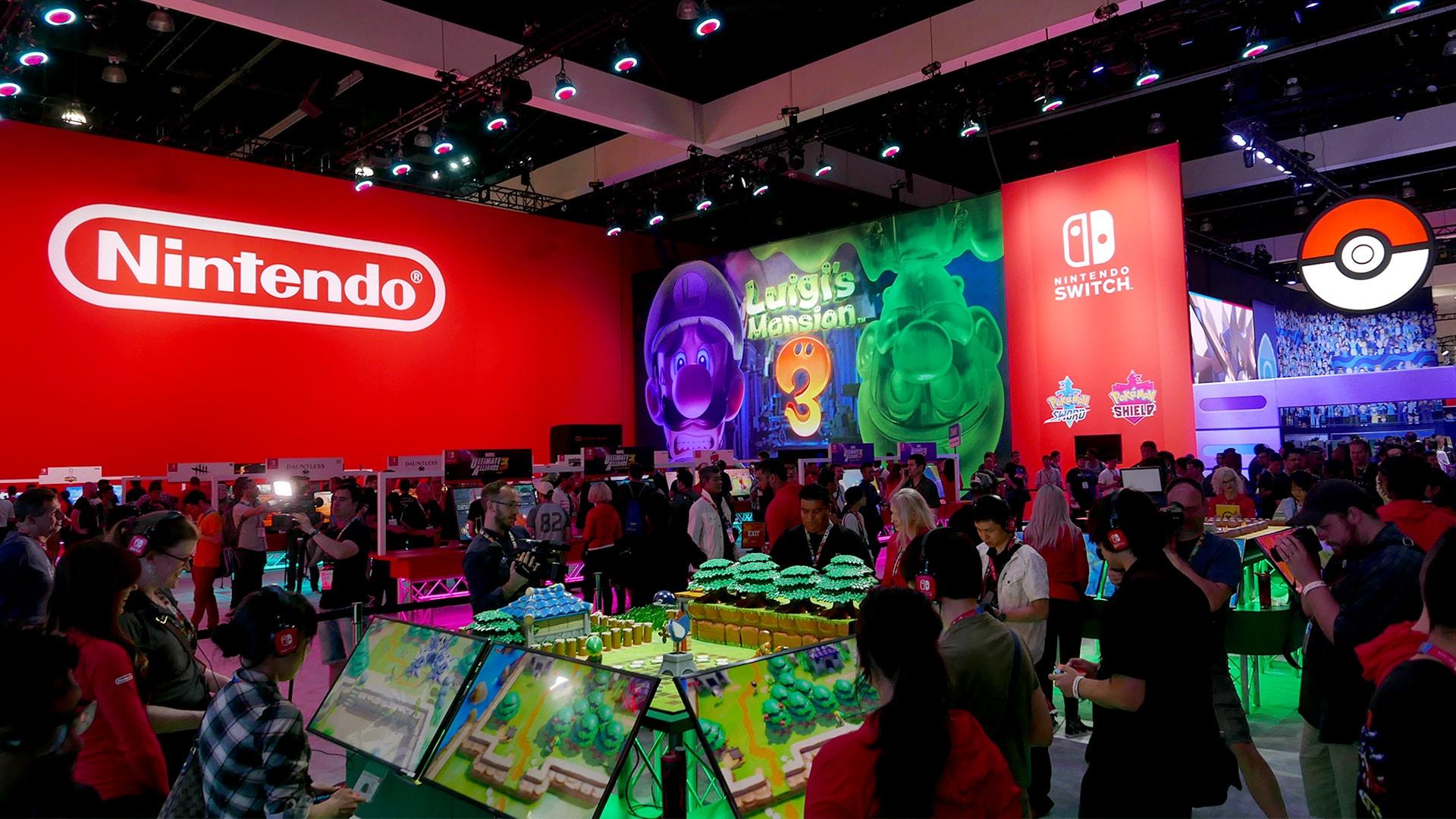 Nintendo's booth at E3 2019