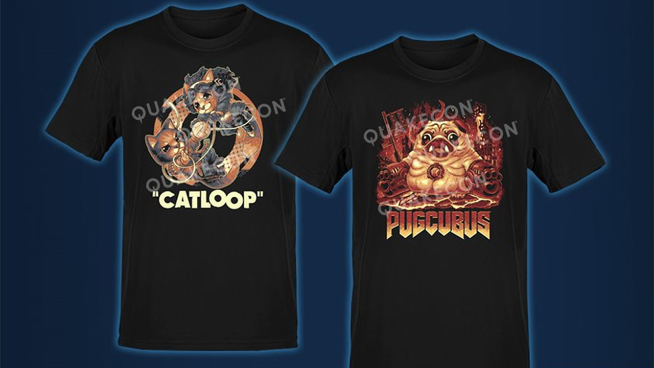 quakecon 2021 t-shirt charity