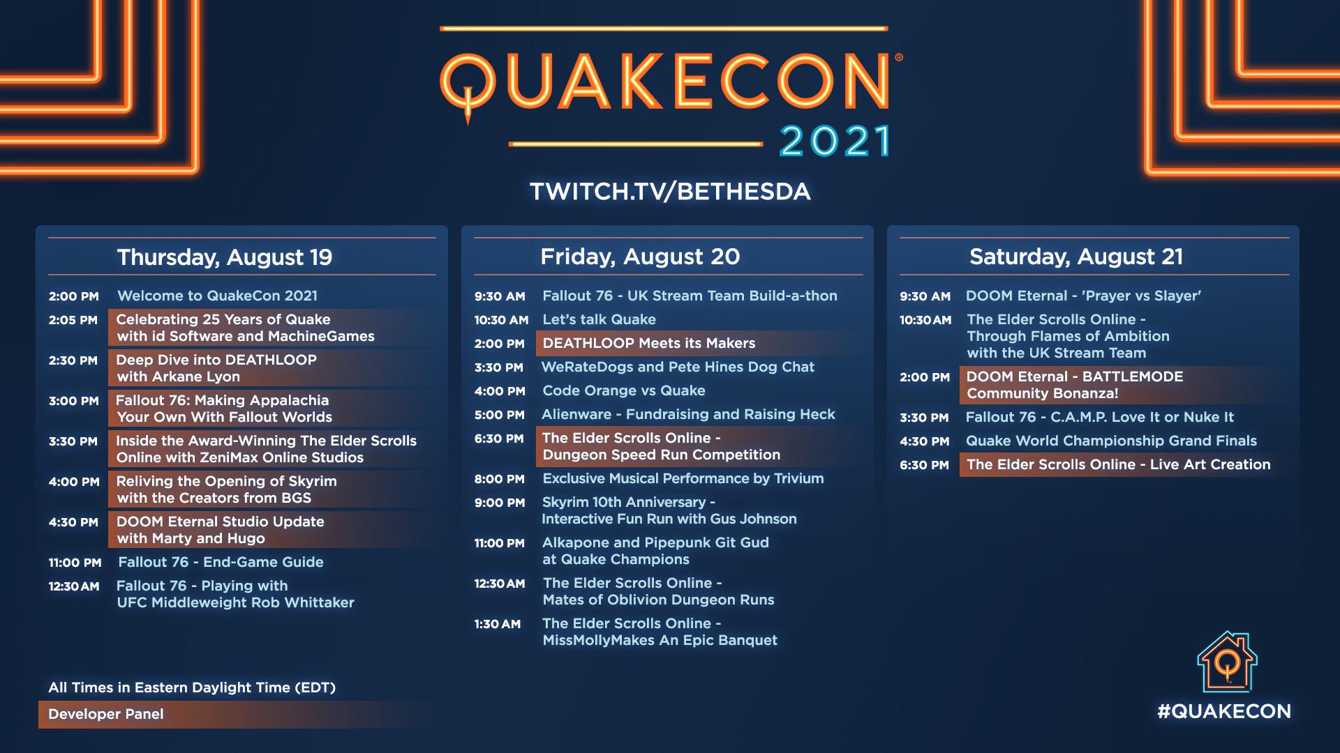 quakecon 2021 livestream schedule