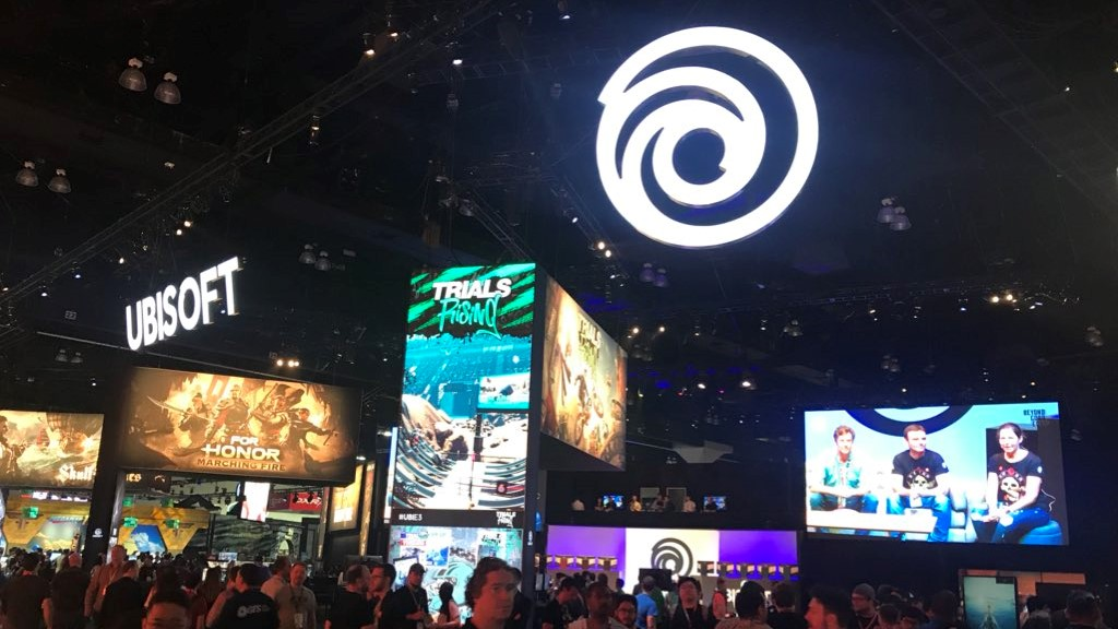 Ubisoft's booth at E3 2018.