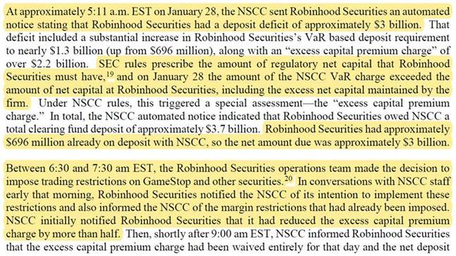 Citadel Securities also tweeted out a screenshot detailing the Robinhood margin call timeline.