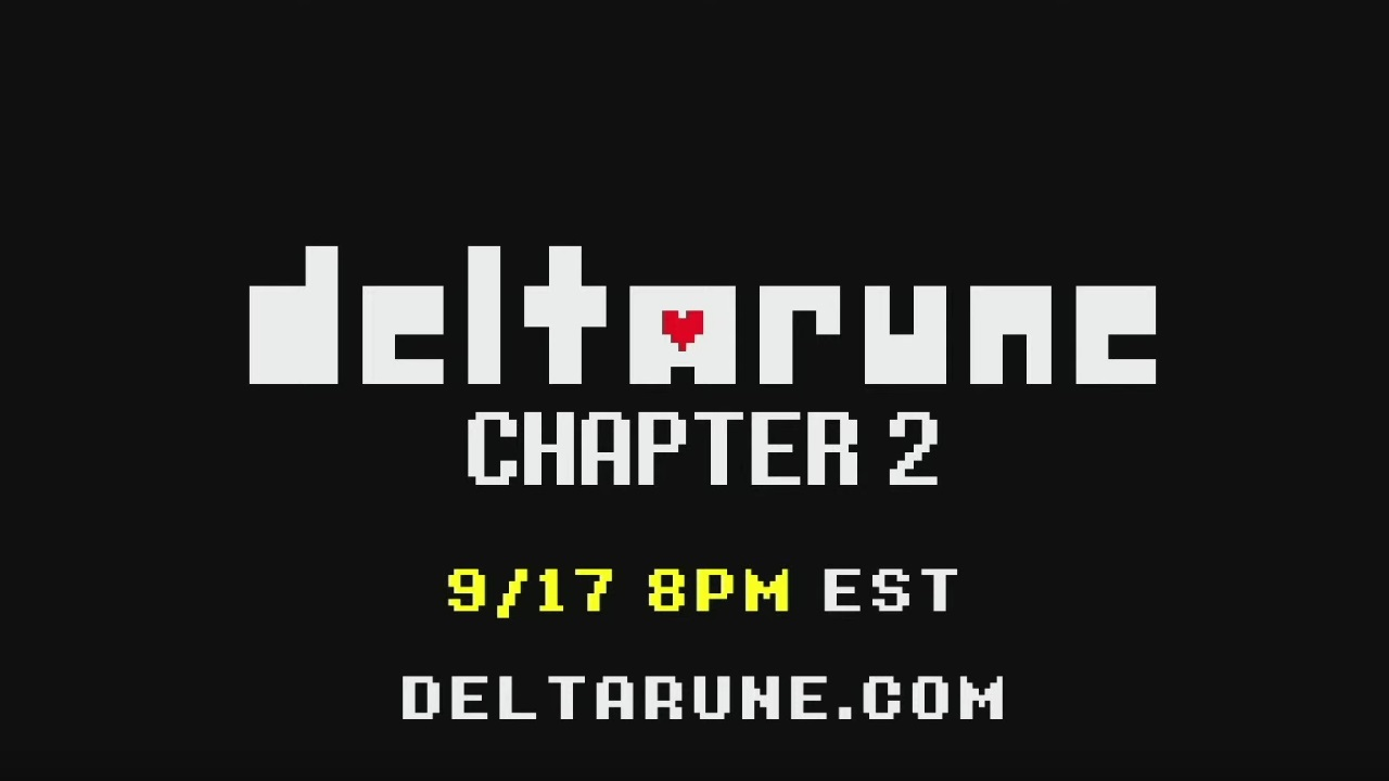 Players will be able to continue the adventures of Kris and Susie in Deltarune Chapter 2 on September 17, 2021 at 5 p.m. PT / 8 p.m. ET.