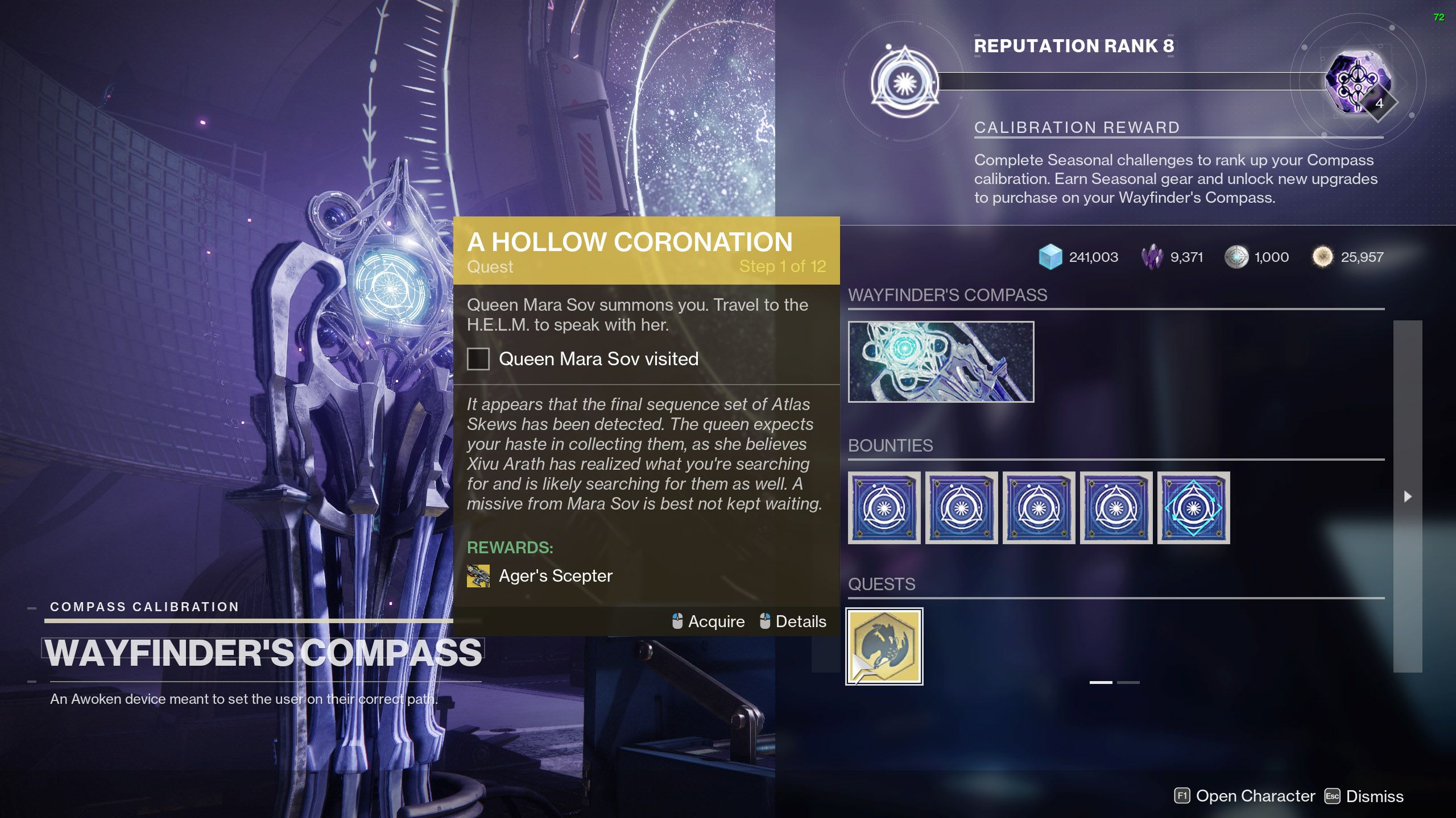 destiny 2 agers scepter a hollow coronation