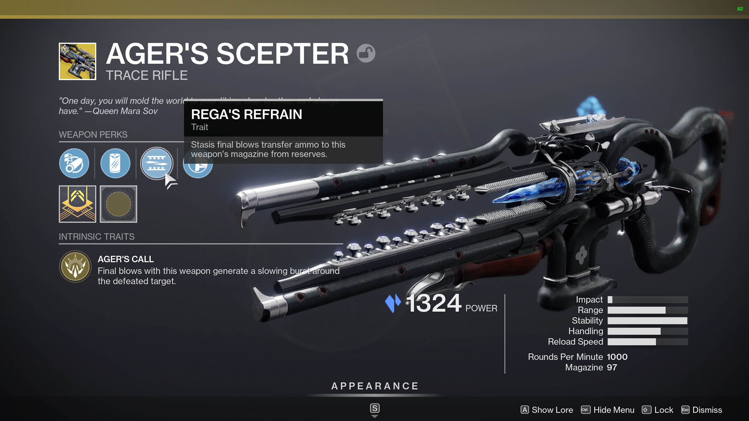 destiny 2 agers scepter perks