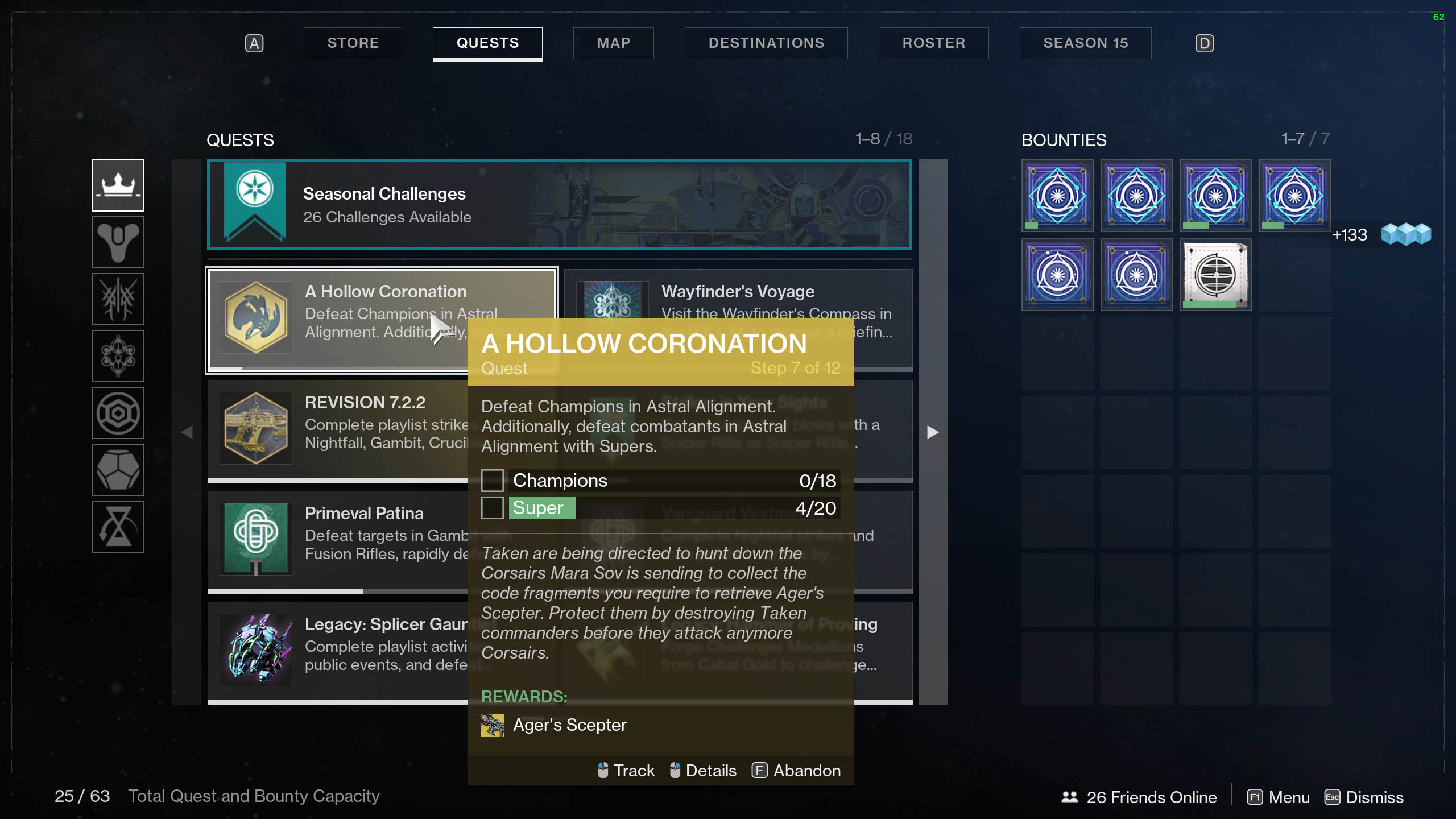 destiny 2 astral alignment champion kills and supers