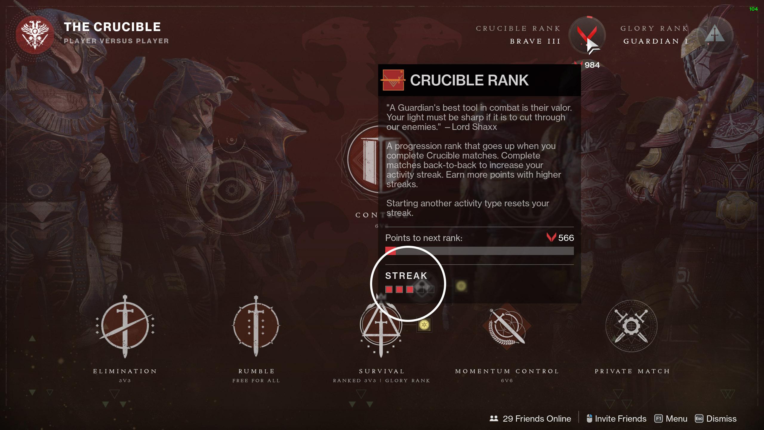 destiny 2 crucible ranks streaks