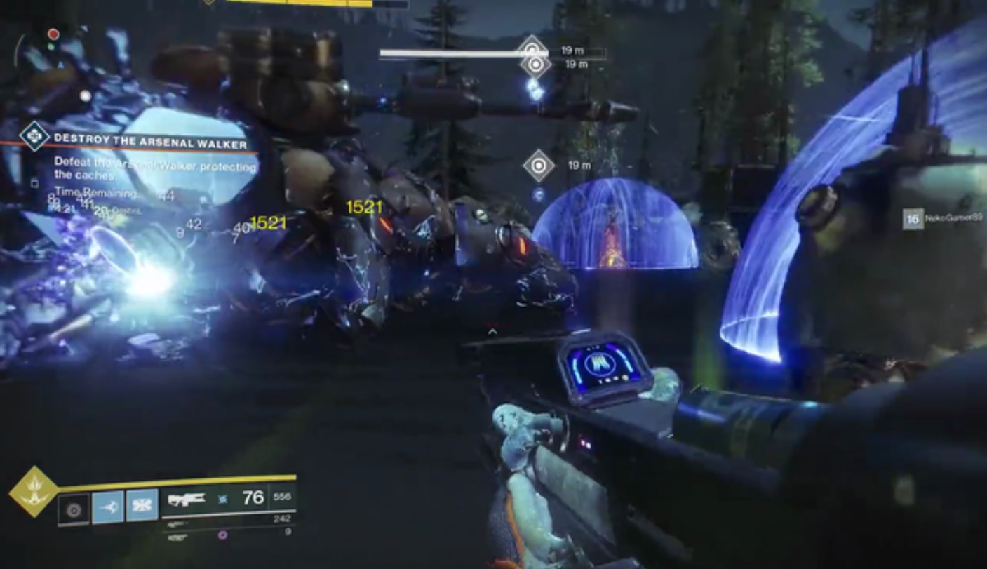 The barriers around the Scorch Cannons during the Fallen Walker public event have been a thorn in Guardians' sides as they try to turn the event Heroic.
