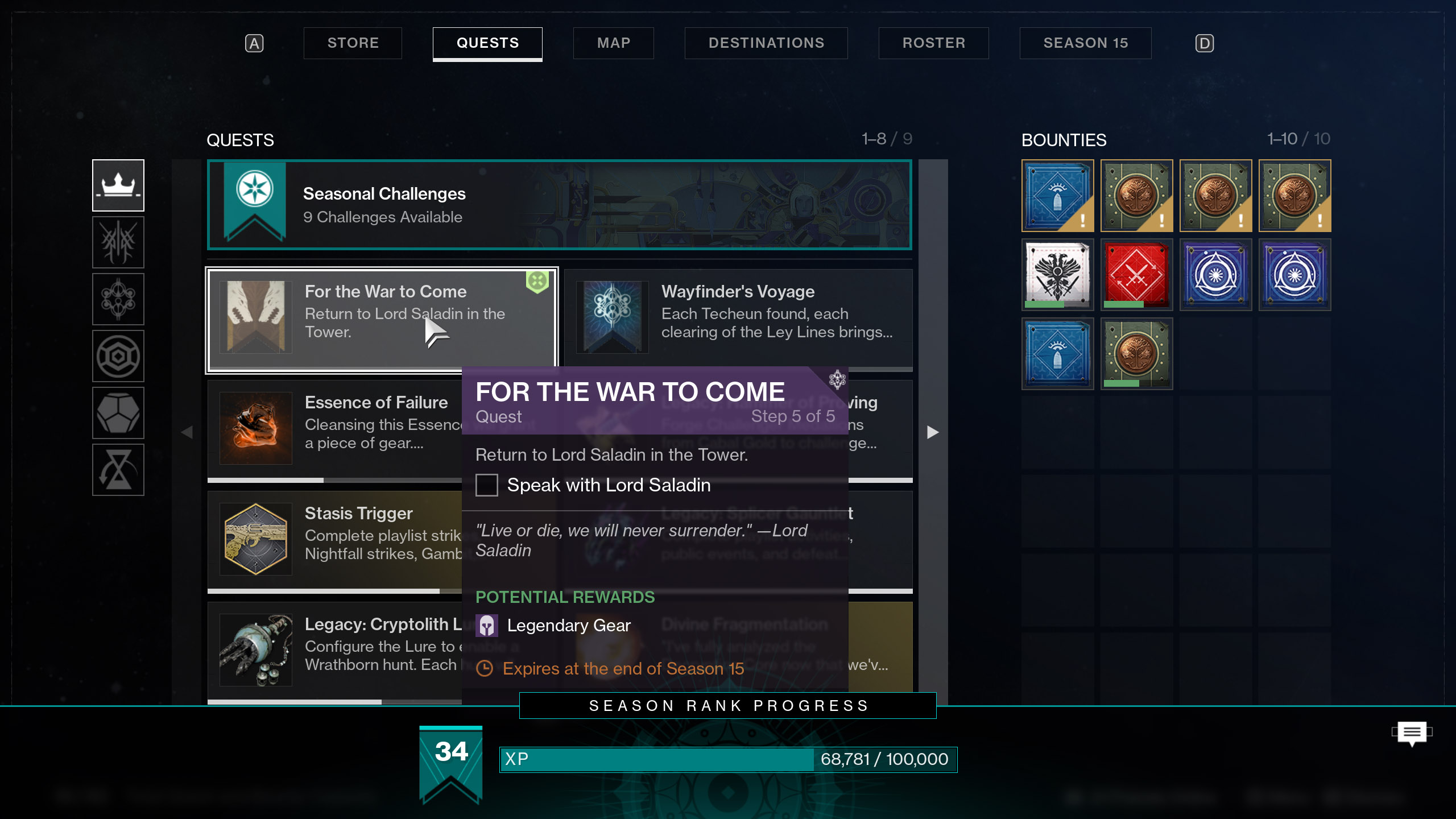 destiny 2 iron banner season 15 quest