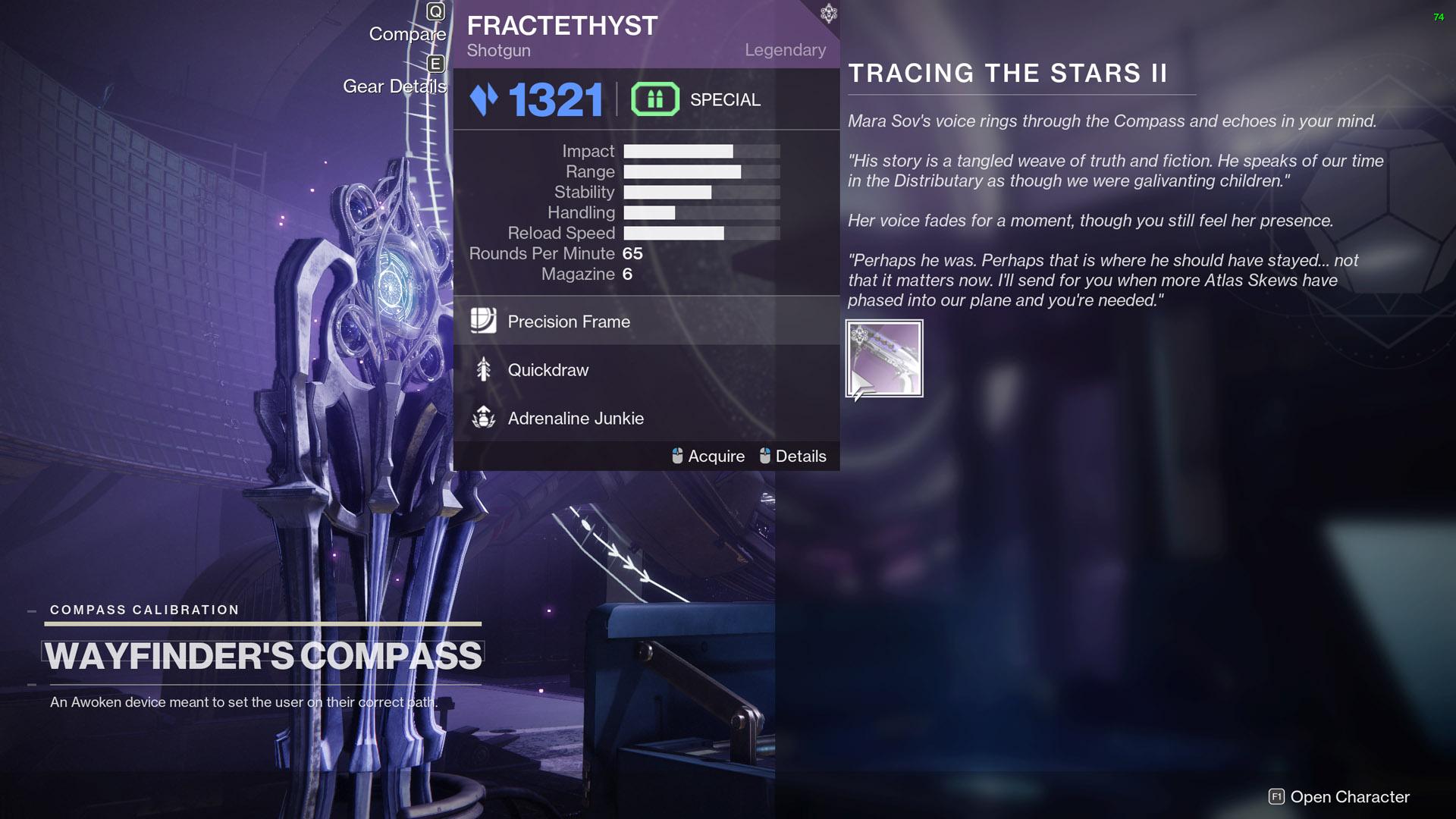 destiny 2 tracing the stars part II