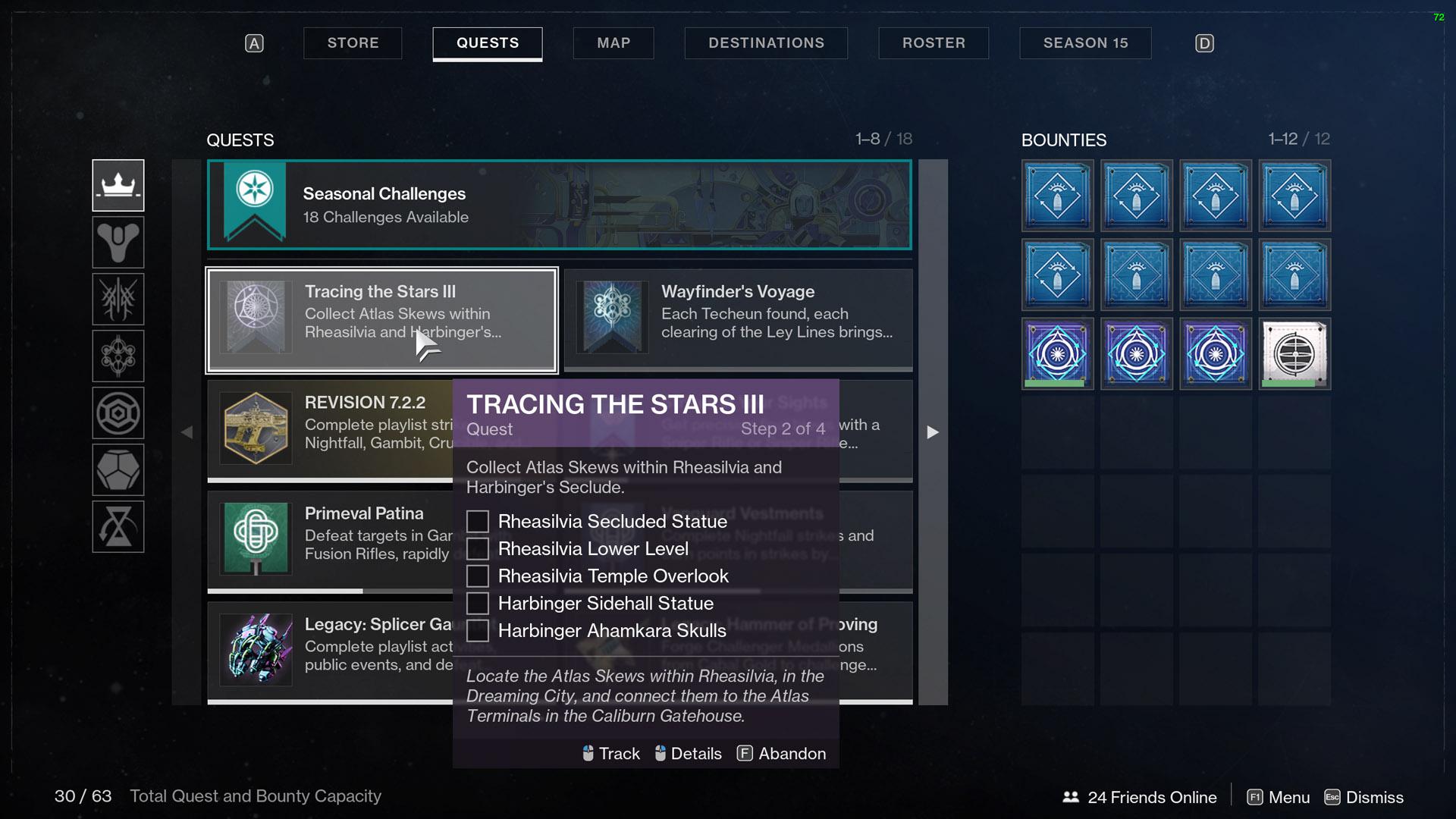 destiny 2 tracing the stars rheasilvia atlas skews