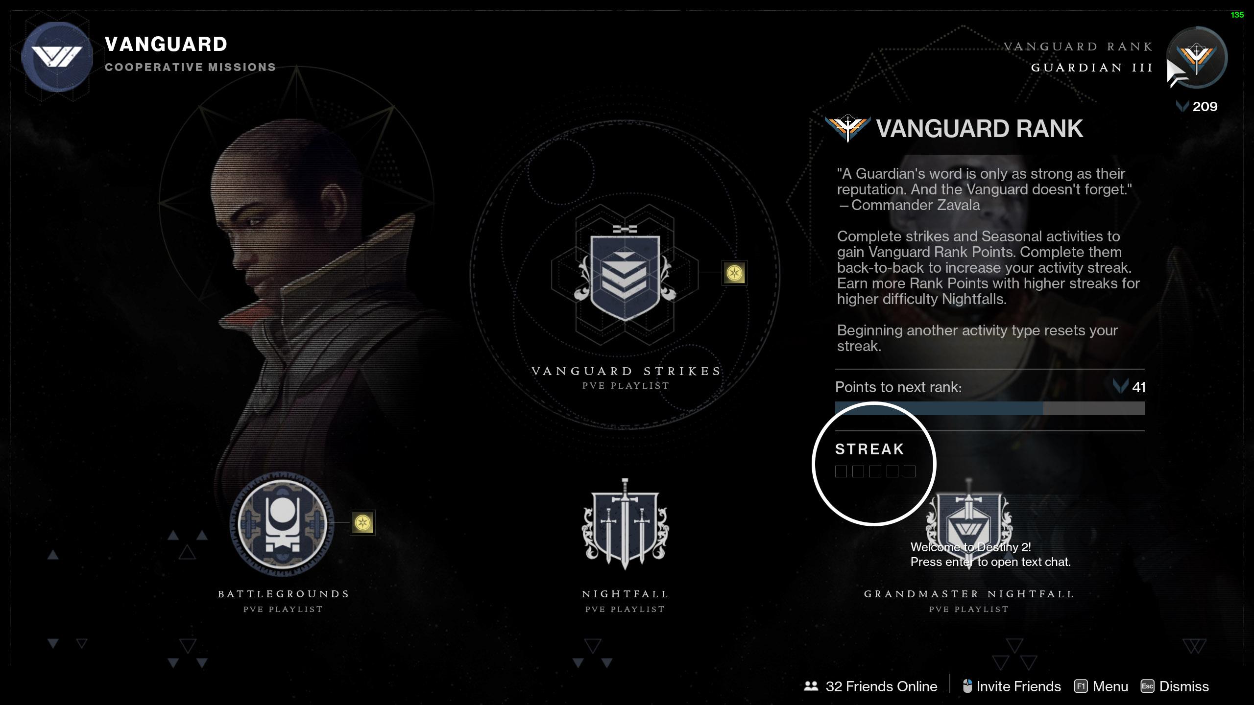 destiny 2 vanguard ranks fast