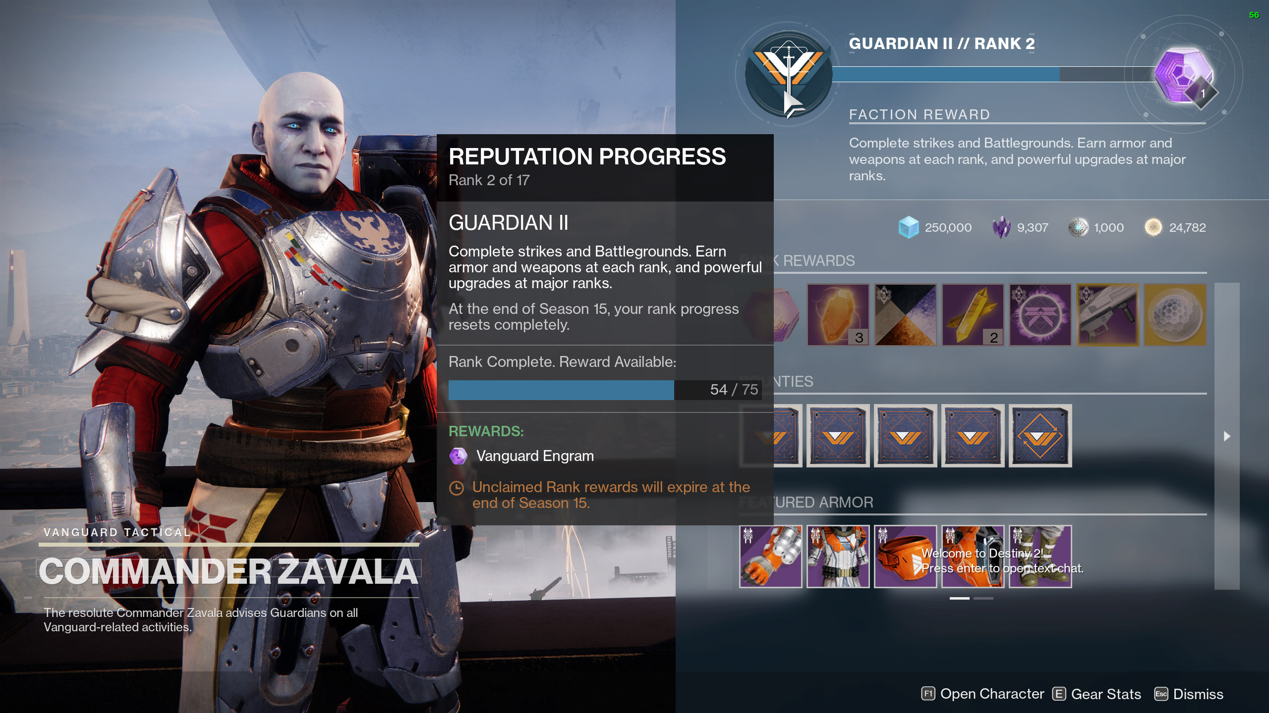 destiny 2 vanguard ranks
