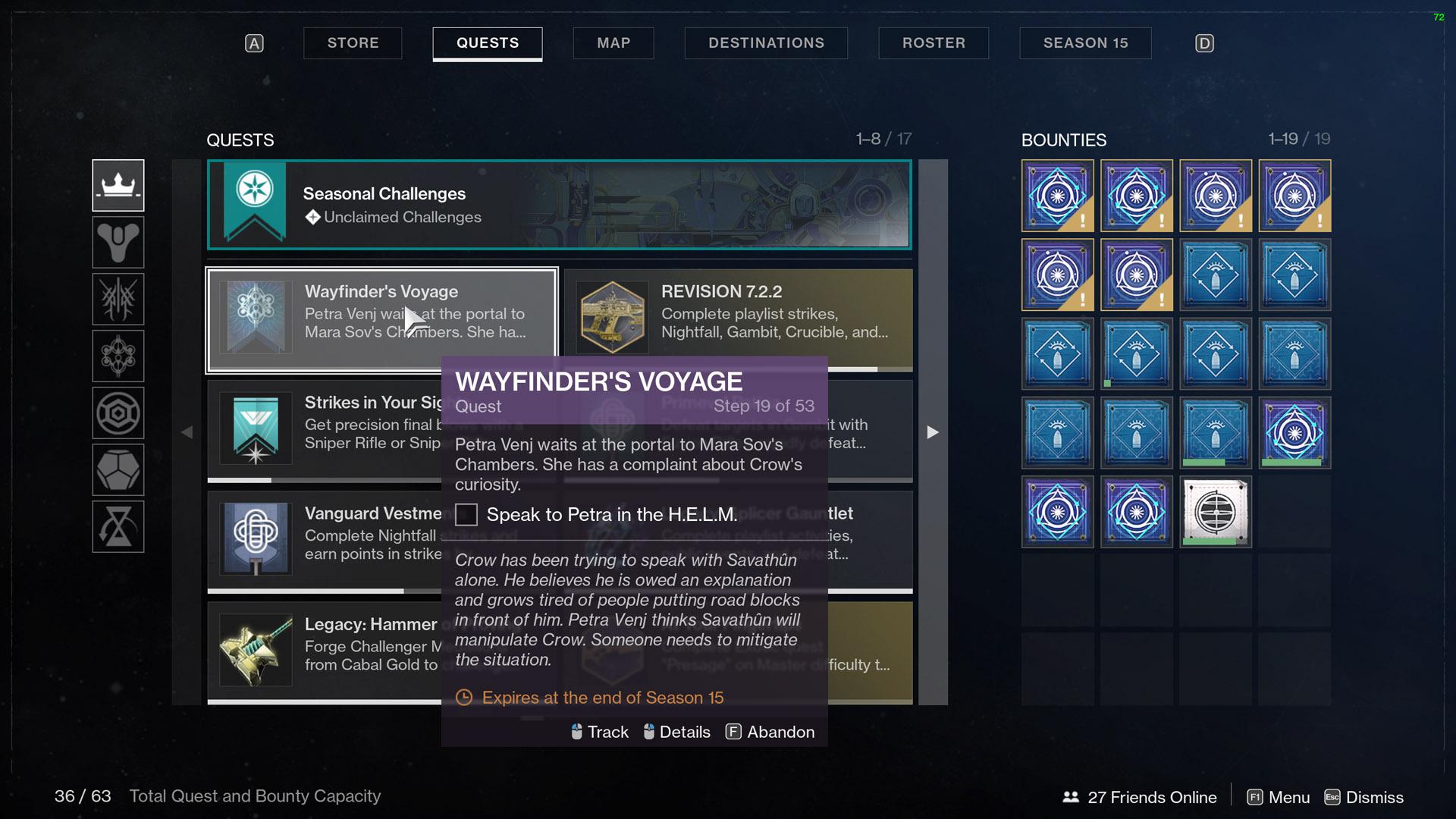 destiny 2 wayfinder's voyage part 3 petra and crow talking