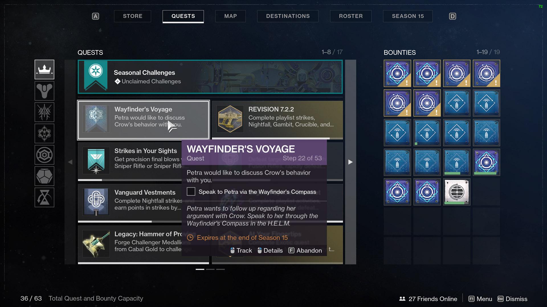 destiny 2 wayfinder's voyage part 3 talk to petra