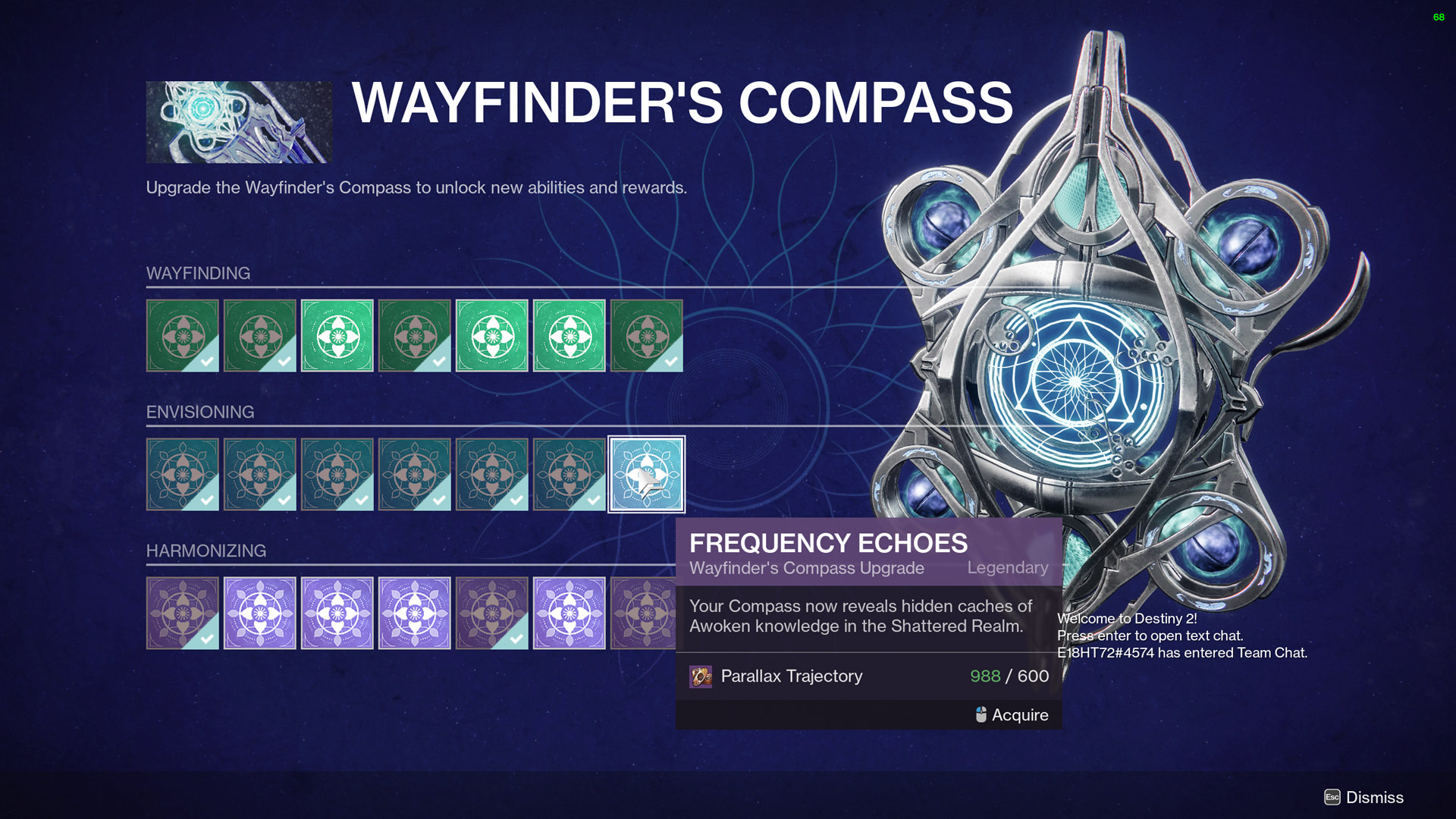 destiny 2 wayfinders voyage part 5 frequency echoes