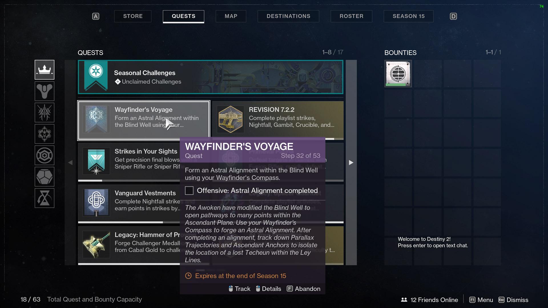 destiny 2 wayfinders voyage part 5 step 32 astral alignment