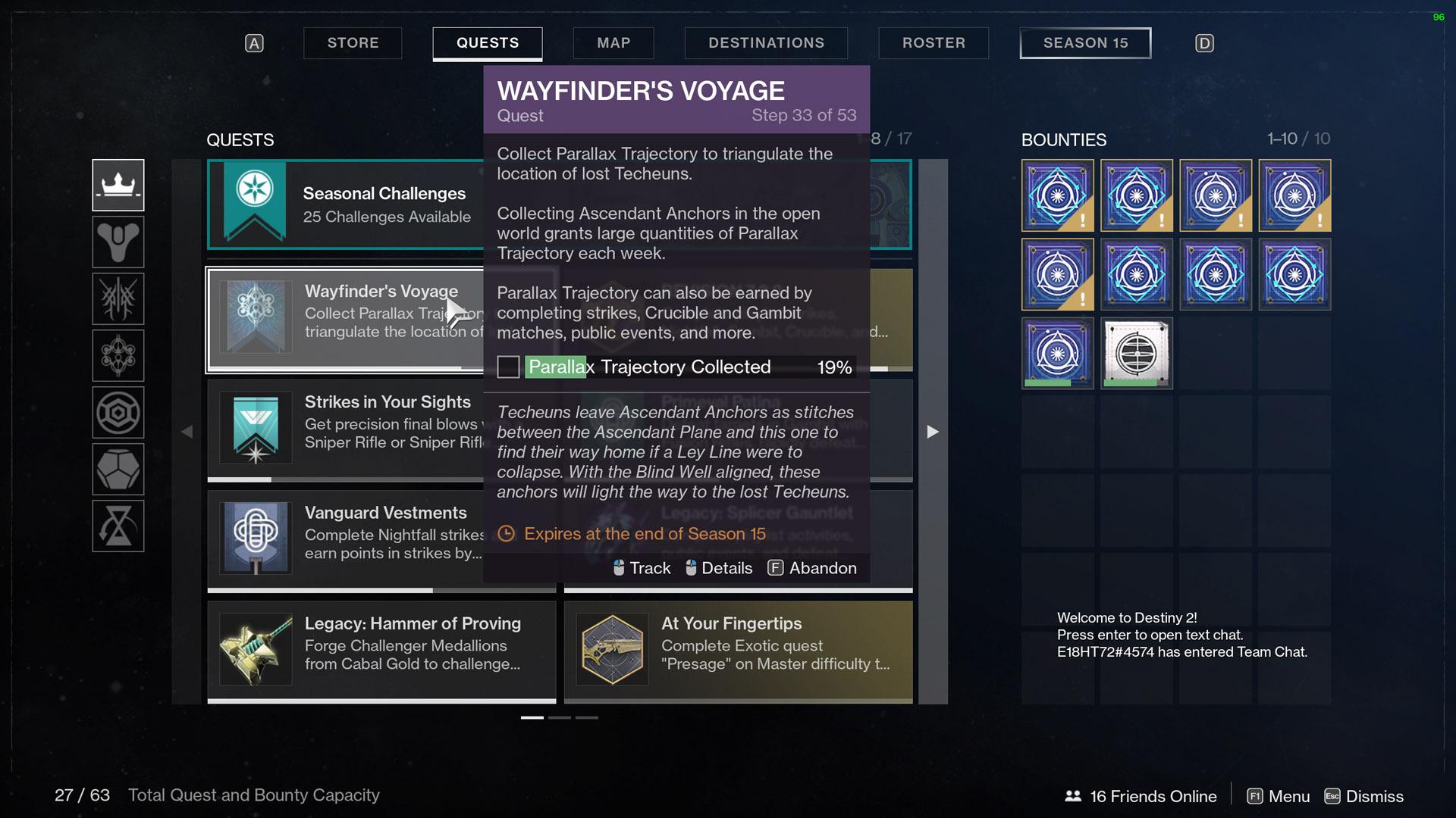destiny 2 wayfinders voyage part 5 parallax trajectory