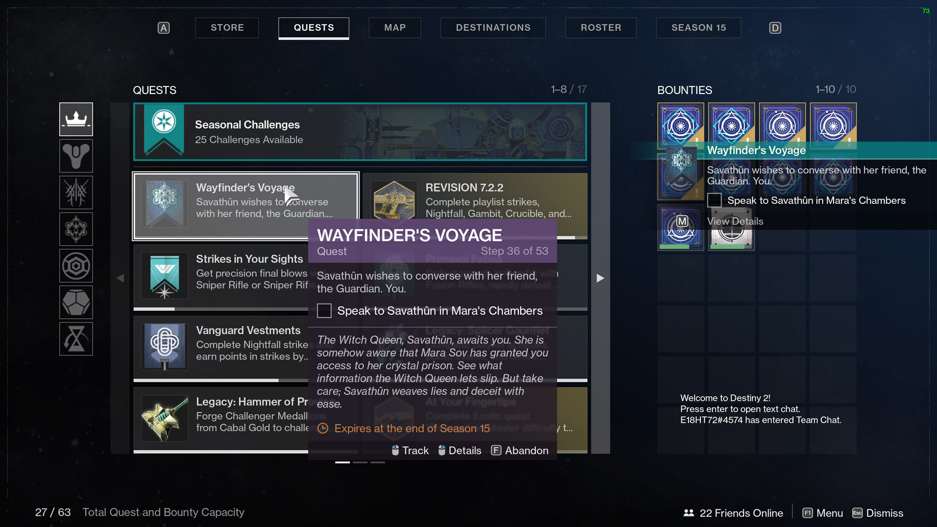 destiny 2 wayfinders voyage part 5 savathun
