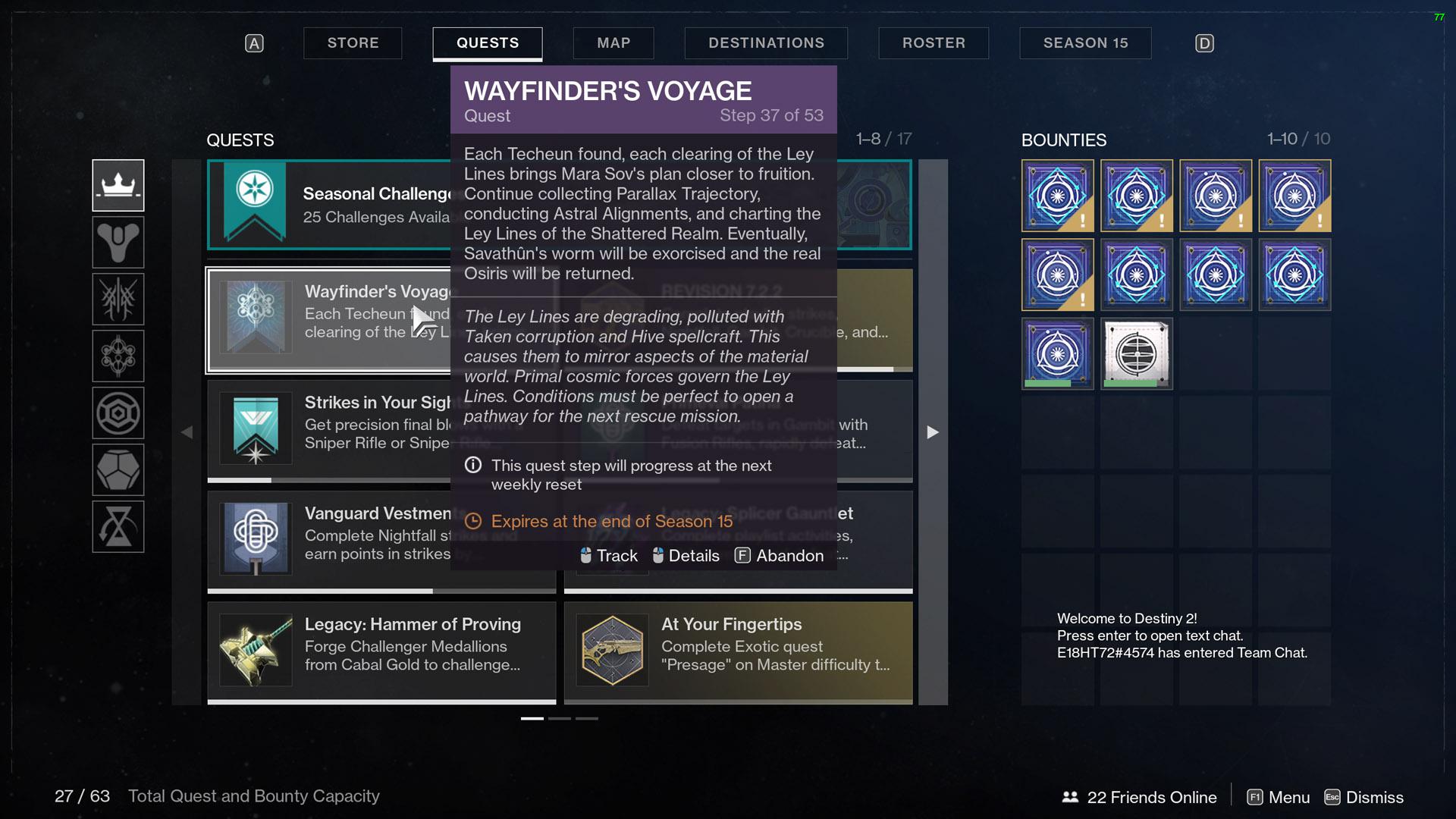 destiny 2 wayfinders voyage part 5 step 37 wait