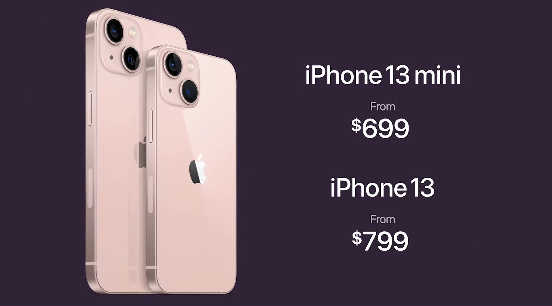 Price points for both new iPhone 13 models are already out.