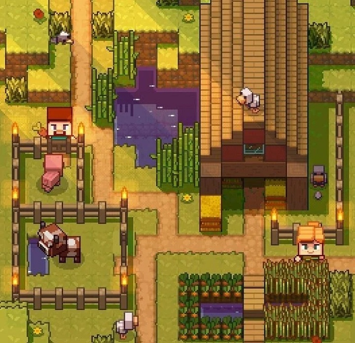 Could Mojang Studios be working on a Stardew Valley-like spinoff to Minecraft? Maybe. More importantly, we'd probably play it.