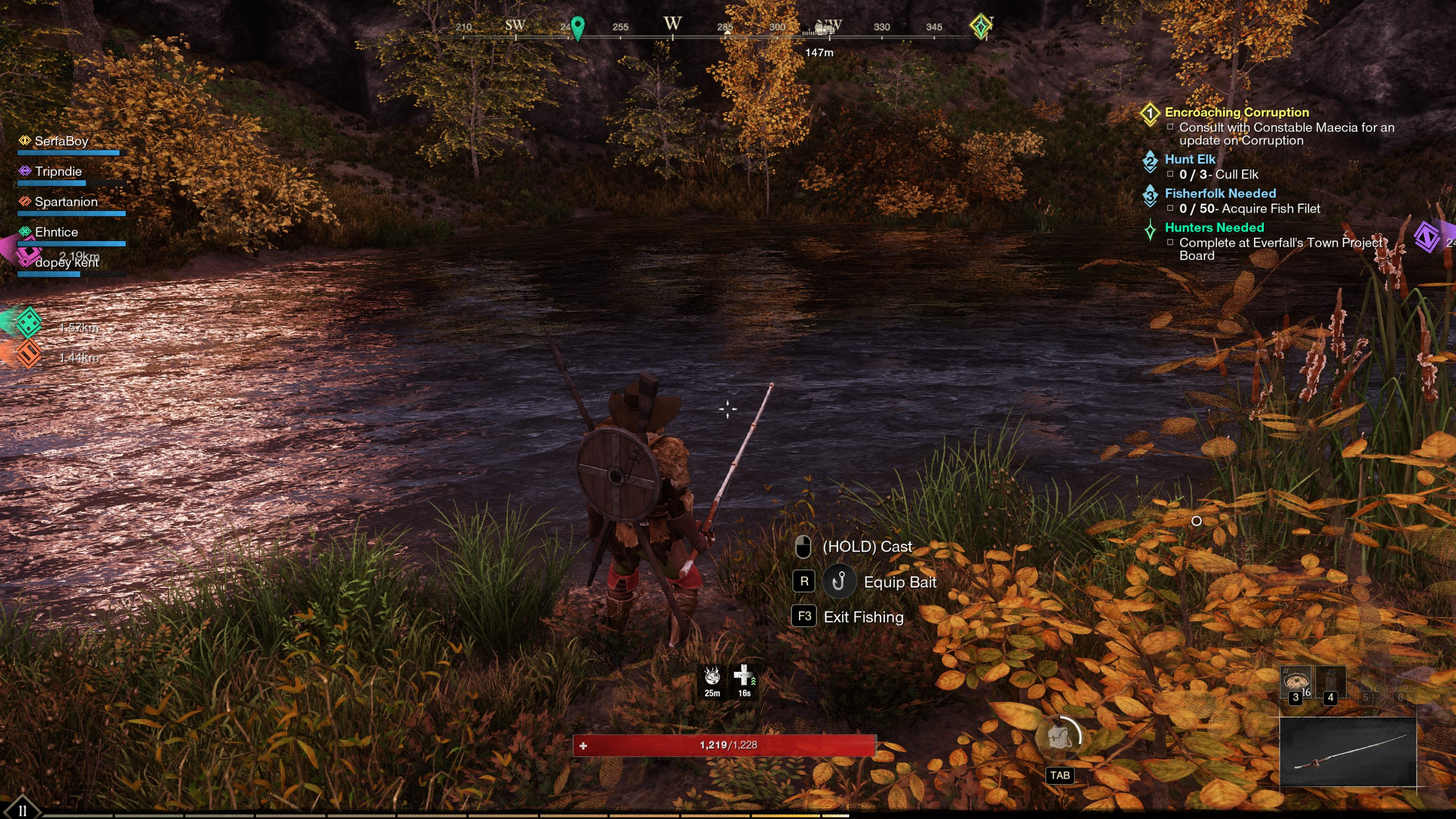 new world fishing controls