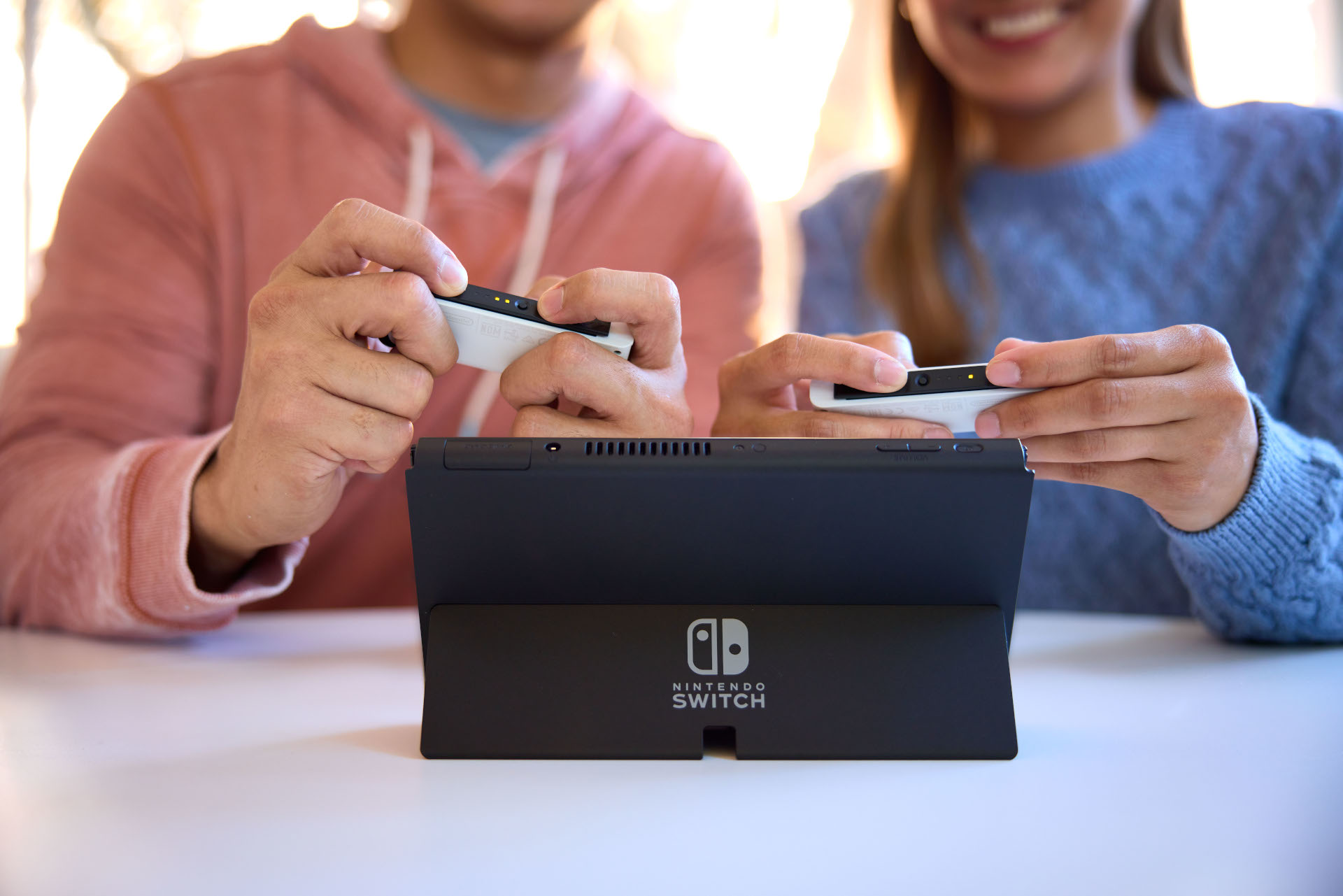 The new kickstand is a major improvement over previous Switch models.