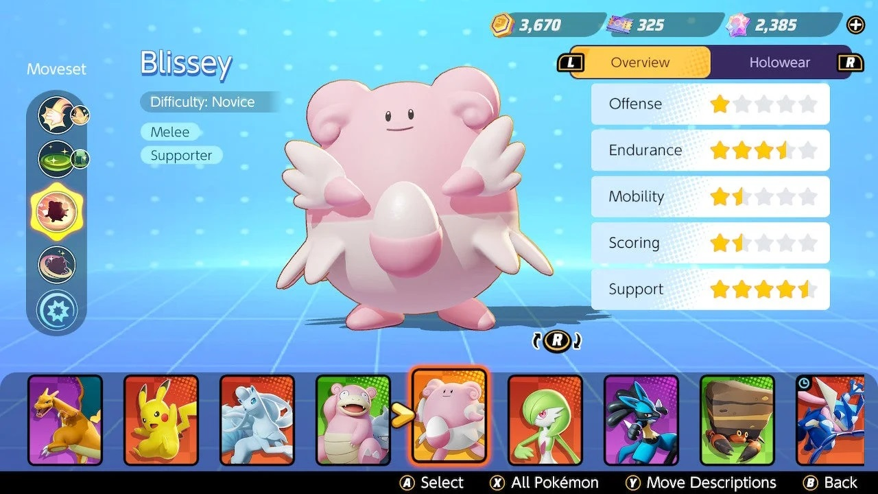 Blissey gets some updates in Pokemon Unite Version 1.1.1.8 that should help support players out quite a bit.
