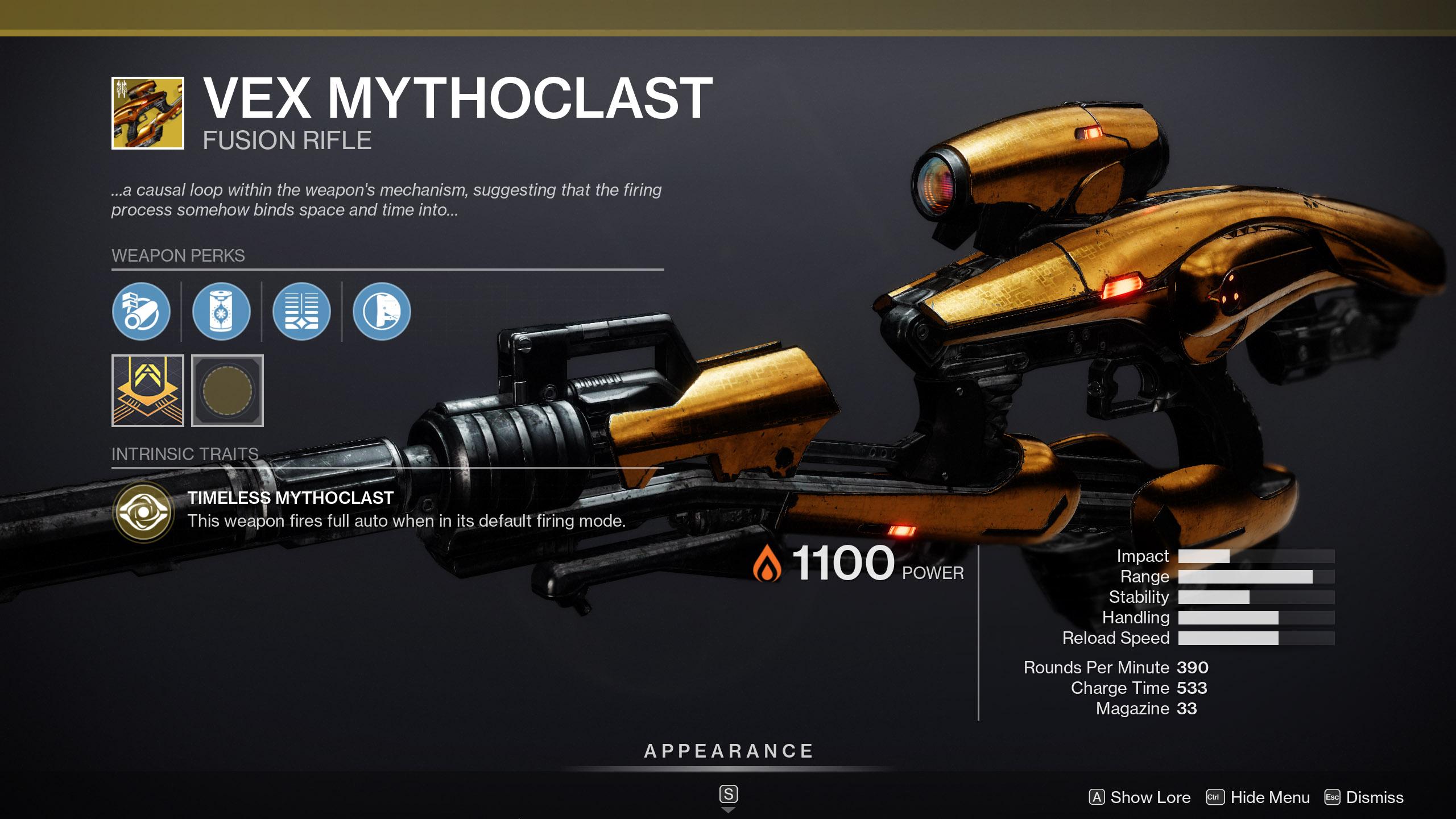 Vex Mythoclast Trials Destiny 2