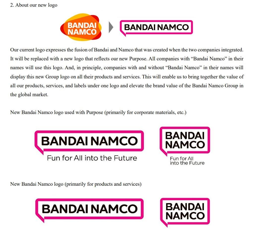 Bandai Namco explica que su nuevo logo está destinado a transmitir el deseo de conectarse con personas de todo el mundo.