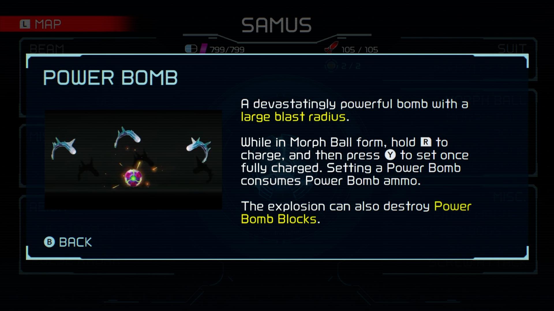 metroid dread power bomb guide