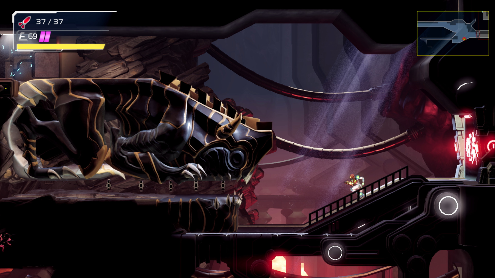The areas in Metroid Dread are massive and gorgeous.