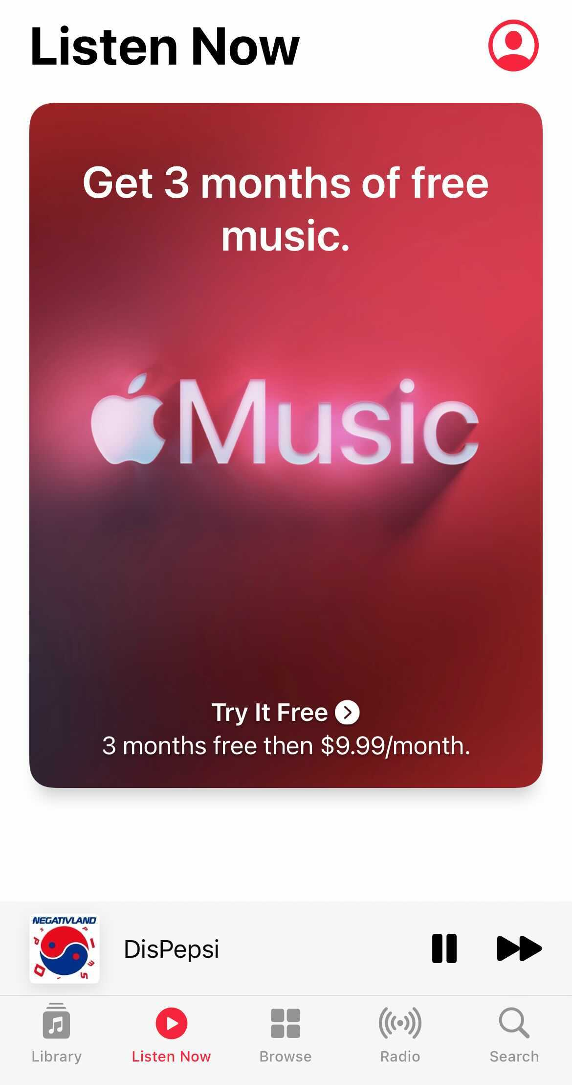 Apple Music's introduction removed the ability to change the bottom buttons on screen and shoves ads in users' faces.